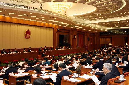 图文:十届全国人大常委会第二十四次会议举行第二次全体会议吴邦国出席会议