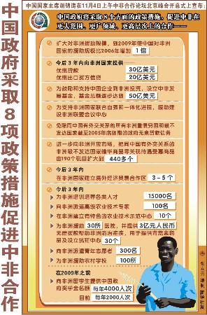 图文:中国政府采取8项政策措施促进中非合作