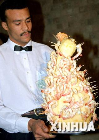 图文:埃及努比亚民族招待客人的传统食品