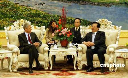 曾庆红在京会见葡萄牙总理苏格拉底(组图)