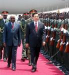 图文:胡锦涛开始对莫桑比克进行国事访问