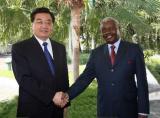 图文:胡锦涛同莫桑比克总统格布扎会谈