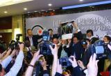 图文:评委会成员在宣布大奖结果