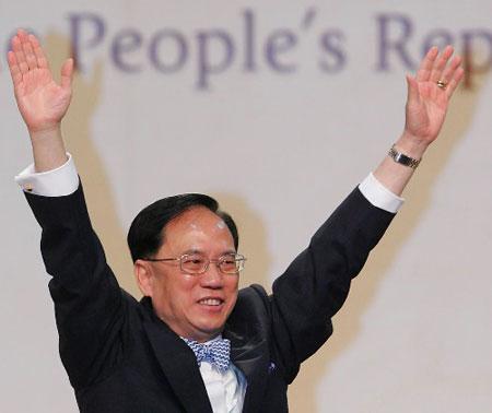 组图:香港特别行政区第三任行政长官选举揭晓