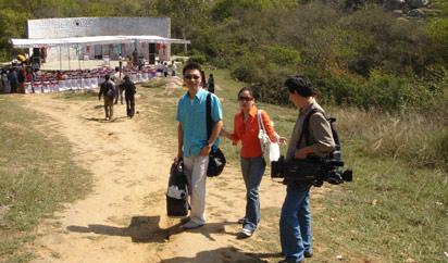 图文:印度大学组织中国文化体验活动