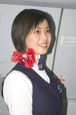 美丽热情的东航空姐图片