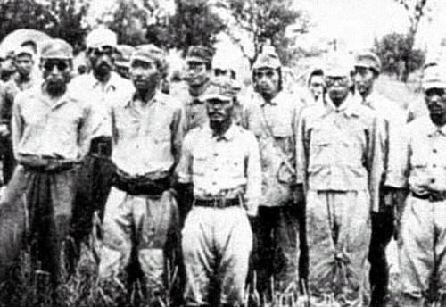 阎锡山接受战败日军