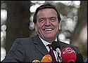 德国总理施罗德飞抵长春访问一汽大众