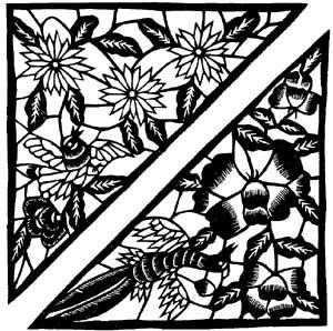 下的纸头即兴剪些小动物和花果,每件只有2至4厘米,可说是最小的窗花了