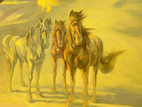 油画动物组图:马·牛·狗·鱼
