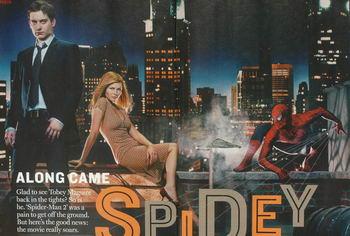 周刊》发表的《蜘蛛侠2》宣传画.好莱坞大片《蜘蛛侠2》将于6月