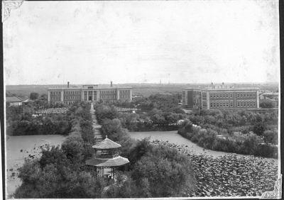 南开大学校园内的马蹄湖 组图