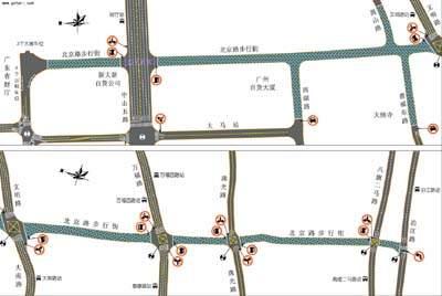 """在北京路南设""""接官亭""""石雕及近现代主题铺地广场"""