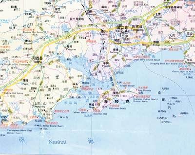 广东省港口地图