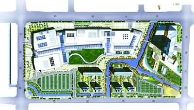 浦江万达广场规划图_平面设计图图片