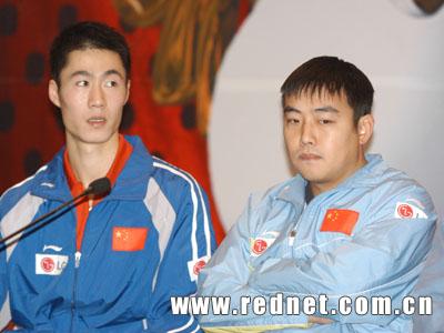 世界VS中国乒乓球明星赛赛后新闻发布会