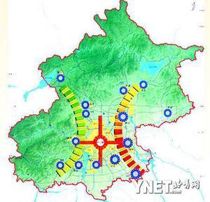 疏散中心城人口向新城转移 供图/北京市规划委员会-2020年北京宜居