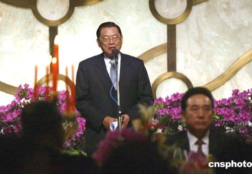 """图文:江丙坤希望此行成为两岸关系的""""破冰之旅"""""""