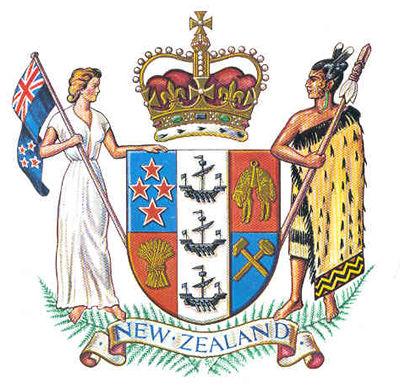 新西兰国徽图片