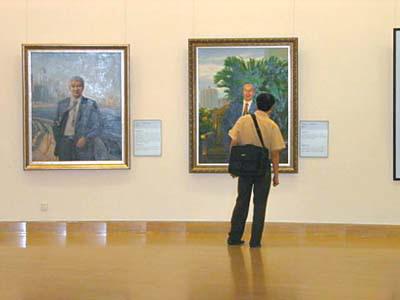 中国美术馆首次展出36企业家肖像(图)