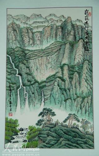 纪念抗战胜利60周年人民日报社老同志书画展开幕