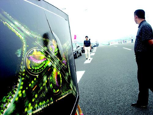 青岛市海尔路立交桥采用新材料能消除噪音(图)