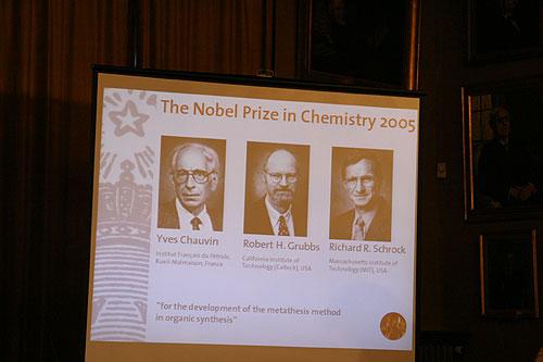 美法三教授获今年诺贝尔化学奖(组图)