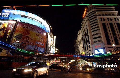 图:灾后福州市区恢复夜景照明