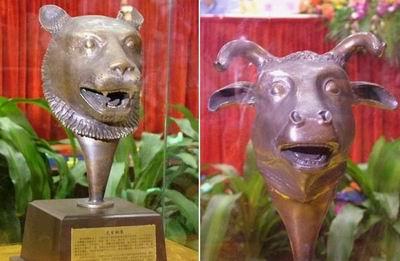 虎首铜像仿真品、牛首铜像仿真品( ) -圆明园回归国宝四兽首将亮相