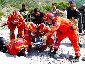 专访中国国际救援队:地震灾区破坏程度令人震惊