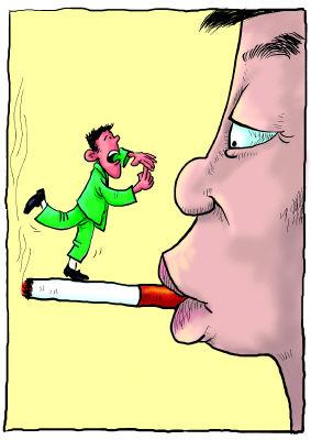 """""""我的眼里只有烟没其他""""(图)"""