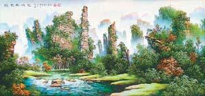 李军声和砂石画(人文景观)