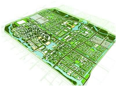 东部新城总体规划框架与核心区城市设计-描绘港城蓝图 共建美好家园