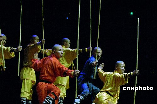 > 正文          当地时间4月2日,首次全美巡回演出的中国嵩山少林图片