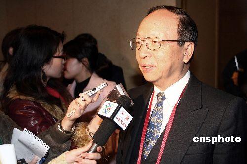 图文:蒋孝严参加两岸经贸论坛