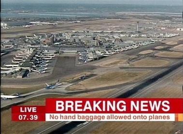 英国警方挫败炸毁多架客机阴谋警戒级别升至最高