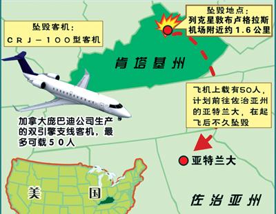 美国客机坠毁为近五年来美国第三次空难