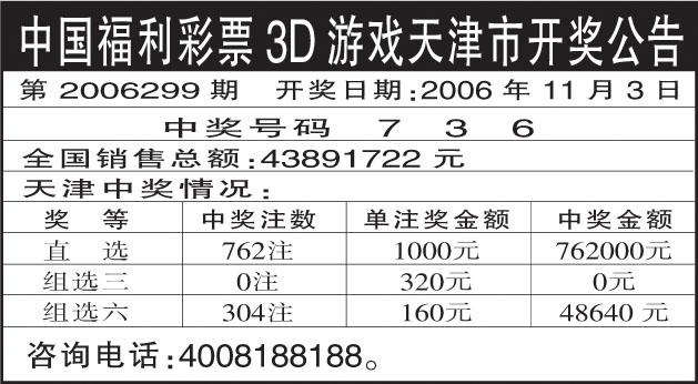 中国福利彩票3D游戏