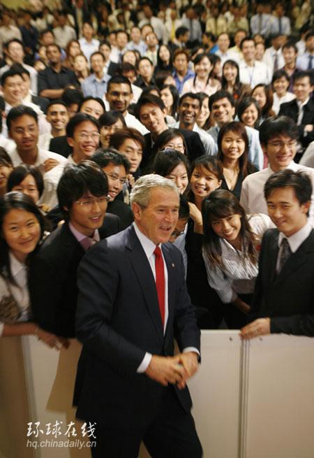 出访海外 布什新加坡国立大学演讲 2