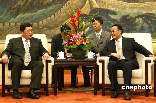 吴邦国委员长会见蒙古总理恩赫包勒德