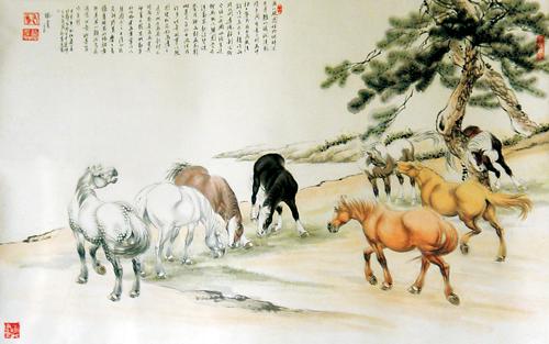 诗画作品图片_柳忠福范曾中国书画名家作品鉴赏