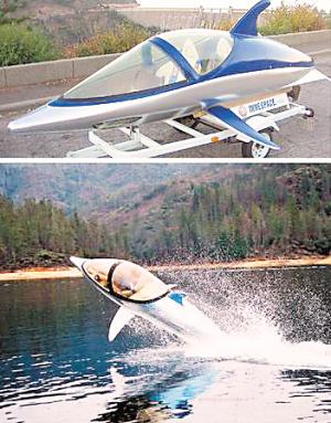 仿生海豚船能潜又能飞