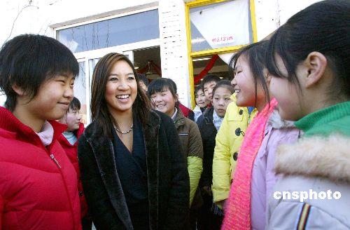 美公共外交特使关颖珊参访北京蒲公英中学