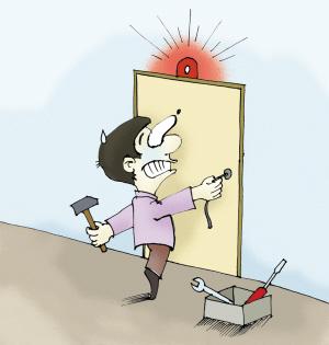 开门营业图片卡通