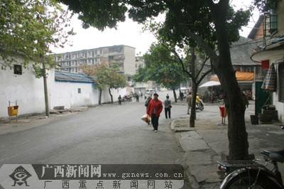 昔日南宁西安新颜市场喧闹今日街道喜换马路小学永宁水街图片
