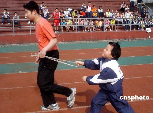 苏州举行迎奥运盲聋学生运动会