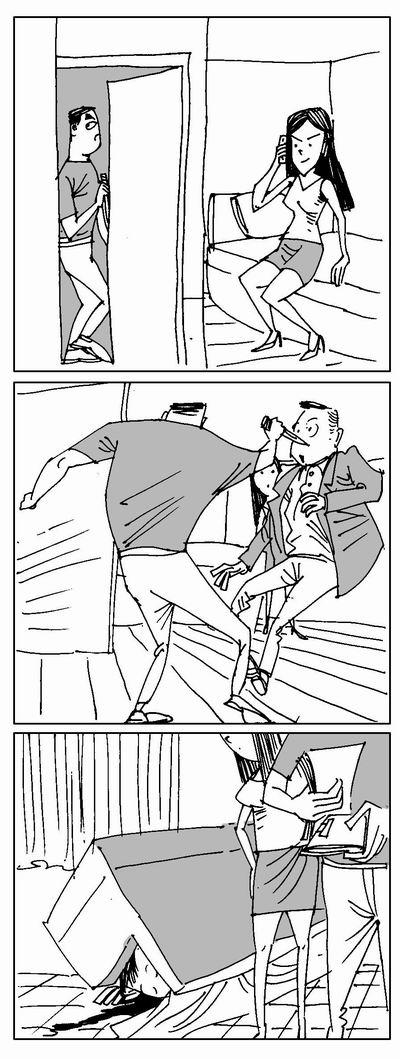 深圳富豪敲门香港色情陷阱介绍命丧桃色漫画谎称女伴的图片