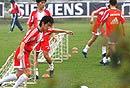 国足训练备战西班牙