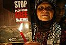 约旦人抗议修建隔离墙