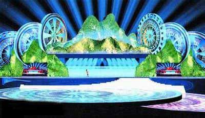 民歌节开幕式舞台设计打造仙境